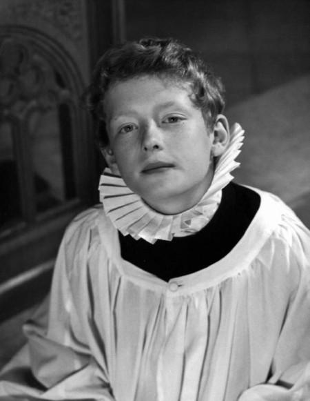 Howard as a chorister aged 12