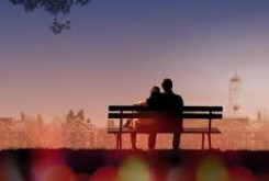 Love Story poster - bench image