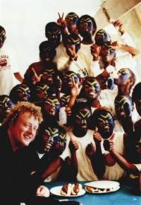Howard with Zulu singers
